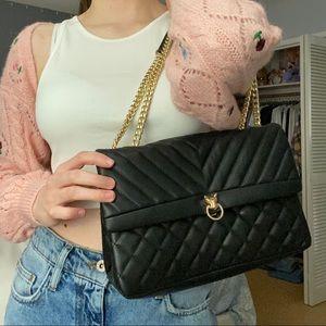 Quilted Black Shoulder Bag/Crossbody Purse